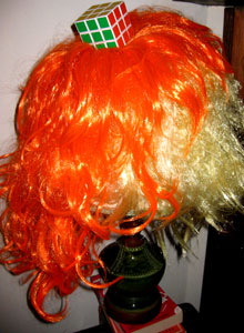 Awesome Cyndi Lauper wig