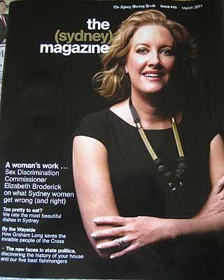 Elizabeth Broderick on the sydney magazine
