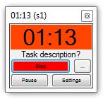 The pomodoro timer