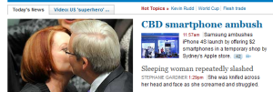 According to smh.com.au, women just get themselves slashed