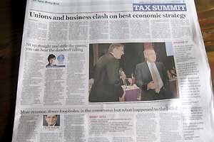 Three stories on the tax summit in the SMH