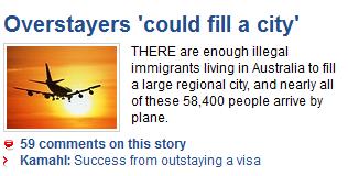 Adelaidenow.com.au and immigration