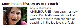 Herald Sun defines professional women by what they do in their private lives