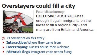 Herald Sun and immigration