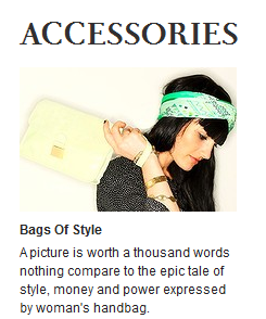 Daily Life handbags feature