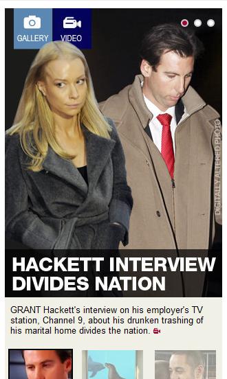 Daily Telegraph Grant Hackett story