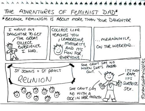 The Adventures of Feminist Dad - College edition