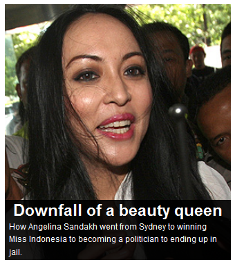 Smh.com.au story about Indonesia politician Angelina Sondakh