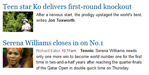Woah! Two stories about women made it to the top of smh.com.au/sport.