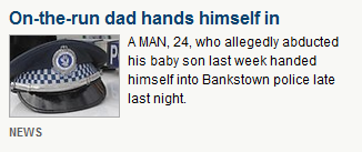 Oops, the journos at dailytelegraph.com.au forgot to mention that he also allegedly abducted a woman.
